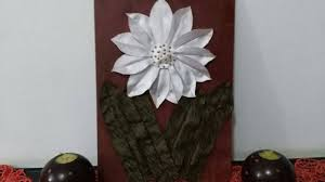 diy home decor how to make a fabric flower for wall decor