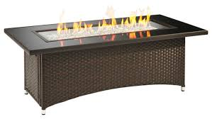 Fire Pit Rectangle Attractive Dark Brown Rectangle Contemporary Glass And Stainless