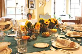 decorations beautiful sunflower in vase thanksgiving day table