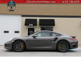 grey porsche 911 2016 porsche 911 turbo s coupe red leather glass roof warranty