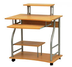 Small Computer Desk For Kitchen Amazing Of Computer Desk With Wheels Simple Home Office Design