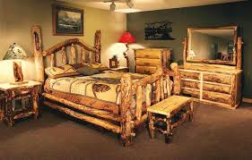 Cabin Bedroom Furniture Log Furniture Reclaimed Wood Furniture Cabin Decor