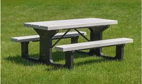 plastic rectangular outdoor table providence walk thru picnic tables kirbybuilt products
