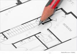 Building Blue Prints by Pencil And Building Blueprint Stock Photo I1322651 At Featurepics