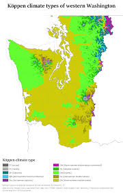 Types Of World Maps by Koppen Climate Types Of Western Washington Map
