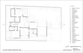 house plans by architects l plan house khosla associates archdaily