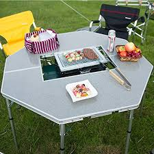 Bbq Tables Outdoor Furniture by Onwaysports Height Adjustable Lightweight Foldable Aluminum