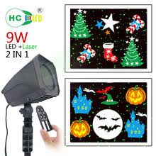 9w led laser projector rotate patterns christmas laser lights