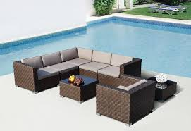 Outdoor Sofas And Sectionals Patio Wicker Furniture Natural Latte - Modern outdoor sofa sets 2