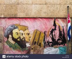mural of fidel castro in revolution square havana cuba stock political wall mural of the cuban revolution in havana cuba stock photo