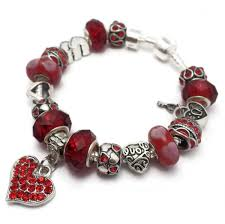 love hearts charm bracelet images Red love hearts charm bracelet pandora style cm caymancode jpg