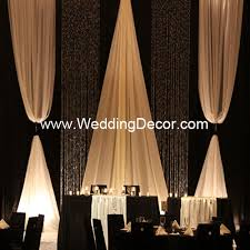 Black Ivory Curtains Wedding Backdrop Backdrop Kit Crystal Curtains Event Backdrop