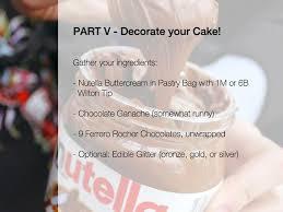 how to make nutella chocolate cake with ferrero rochers recipe