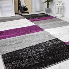 Wohnzimmer Lila Grau Designer Wohnzimmer Teppich Geometrisches Muster Meliert Lila Grau