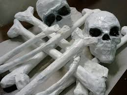 Halloween Paper Mache Crafts by Riittalicious Halloween Paper Mache Bones