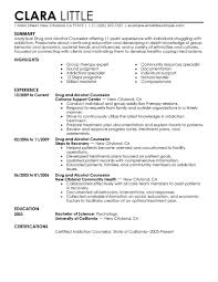 counseling resume resume for study