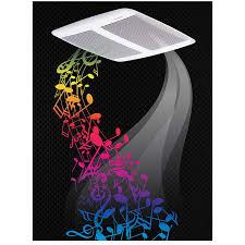 bath fan and speaker in one spk110 sensonic speaker fan bath ventilation fans broan