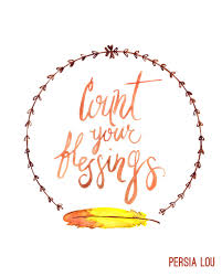 free count your blessings watercolor printable