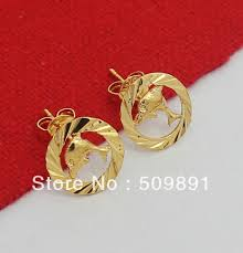 e511 big fashion 24 carat gold colou jewelry gold fish ring