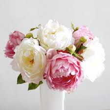 blooms flowers luxury artificial mixed peonies bouquet amaranthine blooms