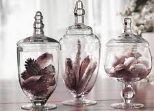 Bathroom Jars With Lids Unbranded Glass Décor Boxes Jars U0026 Tins With Lid Ebay