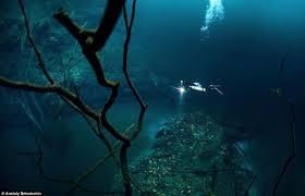 river sea haunting images scuba diver exploring
