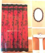 Red Black Shower Curtain Asian Shower Curtains Ebay