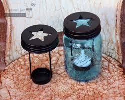 blue tea light candles star cutout tea light candle holder in blue ball mason jar