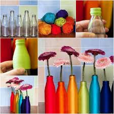 Diy Vases How To Diy Yarn Decorated Flower Vase