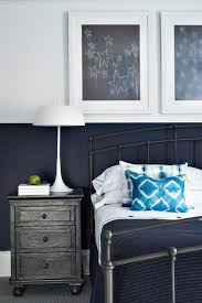 white and navy kids room with annecy metal wrapped closed