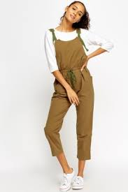 casual jumpsuit casual cropped dungaree jumpsuit just 5