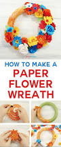diy easy home decor how to make a paper flower wreath the crafty blog stalker