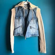 jean sweater jacket 64 billabong jackets blazers billabong pacsun hooded jean