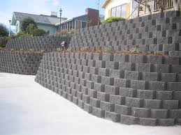 retaining wall blocks to give you a space in your backyard