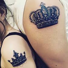 tattoo of queen and king 51 king and queen tattoos for couples stayglam
