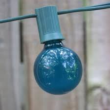 teal satin g40 bulb with e12 c7 base