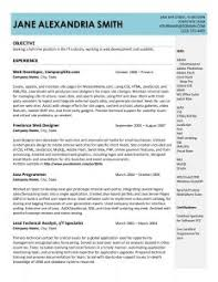 Resume Pattern For Job by Examples Of Resumes 89 Outstanding Outline A Resume Cover Letter