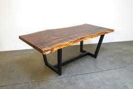 Slab Dining Table by Claro Slab Dining Table Offerman Woodshop