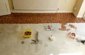 Bathroom Floor Pennies It Worker Designs Kitchen Floor Made From 27 000 One Pence Pieces