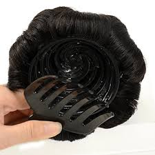 donut bun hair a r 100 human hair donut bun hair extension chignon hairpiece