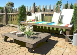 Diy Wooden Outdoor Chairs by Maximize Your Outdoor Space With A Pallet Coffee Table On Wheels