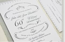 60th anniversary invitations diamond wedding anniversary invitations 60th wedding anniversary