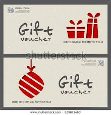 Happy New Year Business Card Christmas New Year Gift Voucher Certificate Stock Vector 342574730