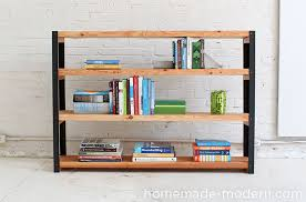 homemade modern ep36 ironbound bookcase