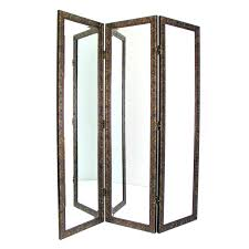 Gold Room Divider by Golden Mirror 3 Panel Room Divider Hayneedle