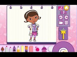 doc mcstuffins color and play disney junior animated coloring book