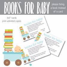 bring a book instead of a card baby shower printable blue baby bring a book instead of a card baby