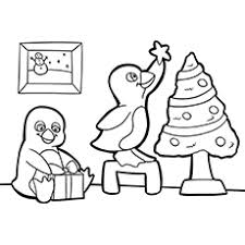 penguin coloring pages free printable kids
