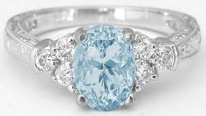 aquamarine wedding rings aquamarine and diamond ring in 14k white gold with ornate