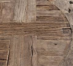 buy reclaimed wood table top parquet reclaimed wood round coffee table pottery barn
